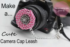 Camera Cap Leash… I usually just stick it in my bra… this is much more professional. Ha.