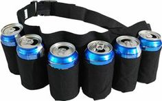 6-Pack Beer Can Holder Belt...  I mean, sometimes you get lazy when you are camping and need to, ummm...  have a few extra around your waist! #camping #outdoors #BBQ