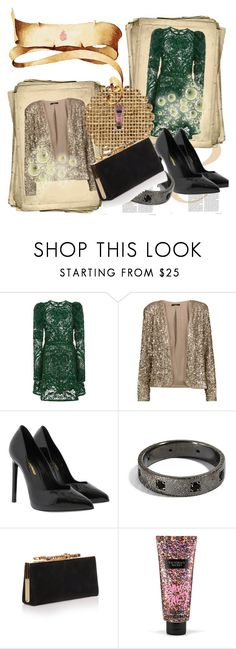 """""""Christmas is Coming"""" by nimeda ❤ liked on Polyvore featuring Elie Saab, Tart, Yves Saint Laurent, Jimmy Choo and Victoria's Secret"""