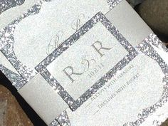 Glitter Wedding Invitation  Glitter Bridal by SoireeCustomPaperCo, $5.00