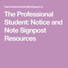more short stories and texts to use notice and note signposts  the professional student notice and note signpost resources
