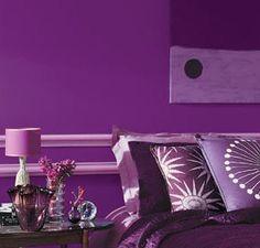 Habitaciones decoradas con color Violeta o Púrpura   Decoracion de Salas