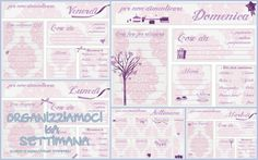 Organizzare la settimana Free Planner, Planner Template, Planner Pages, Happy Planner, Free Printable Calendar, Printable Planner, Free Printables, Home Binder, Desperate Housewives