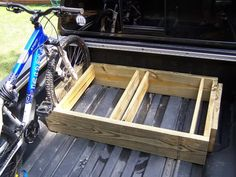 Built a bike rack for the truck the other day - Nissan Titan Forum