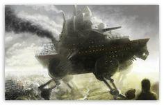 Robot Boat Fantasy wallpaper