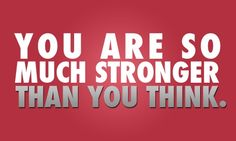 You are so much stronger than you think https://www.facebook.com/BanHangNhuChuyenGia