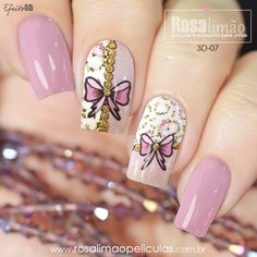 Pink Nail Art, Acrylic Nail Art, Glitter Nail Art, Pretty Nail Art, Cool Nail Art, Beautiful Nail Designs, Flower Nails, Stylish Nails, Gel Nail Polish