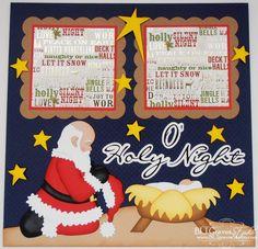 Elite4U Premade Scrapbook Page Paper Piecing Christmas Nativity BLJgraves 165 #Handmade