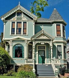queen anne victorian homes - Yahoo Image Search Results Victorian Architecture, Architecture Design, Classical Architecture, Sustainable Architecture, Style At Home, Beautiful Buildings, Beautiful Homes, Victorian Style Homes, Victorian Houses