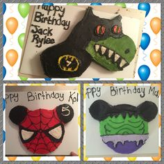 Half Spiderman Half Mickey Mouse Playhouse Cake From The