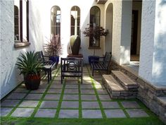 Small, Courtyard, Fountain, Bench, Pavers, Succulent  Entryways, Steps and Courtyard  Signature Landscapes Inc.  Fargo, ND