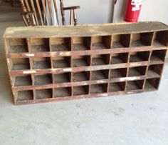 Vintage Pigeon Holes Beautiful Perfect Storage And Statement Piece Ebay