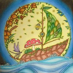 Image Result For Enchanted Forest Coloring Book Finished