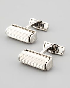 Stainless Steel Roller Cuff Links by Alfred Dunhill at Neiman Marcus.