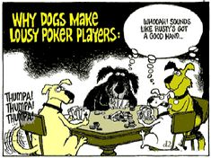 funny dog cartoons | funny-dog-cartoon-lousy-poker-players