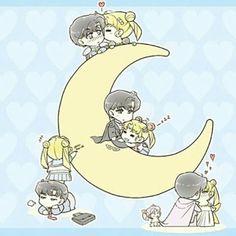 Usagi and Mamoru Chibi ❤ Sailor Moon