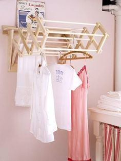 Great idea to make drying space when you need it or close it down when you dont.