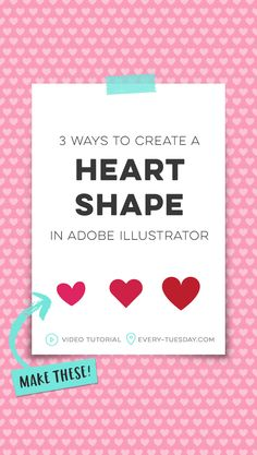 3 Ways to Create a Heart Shape in Adobe Illustrator – Every-Tuesday – Famous Last Words Heart Hands Drawing, Doodle Art Journals, Adobe Illustrator Tutorials, Dashboard Design, Pencil Drawing Tutorials, Design Thinking, Motion Design, Design Tutorials, Business Design