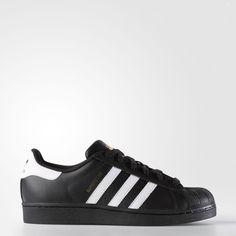 adidas Superstar Shoes Black (2.280 UYU) ❤ liked on Polyvore featuring shoes, black shoes, adidas shoes, kohl shoes, adidas and adidas footwear