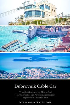 Dubrovnik Cable Car is a major Dubrovnik attraction.  Dubrovnik Croatia on the Adriatic Sea. Travel in The Balkans in Europe.