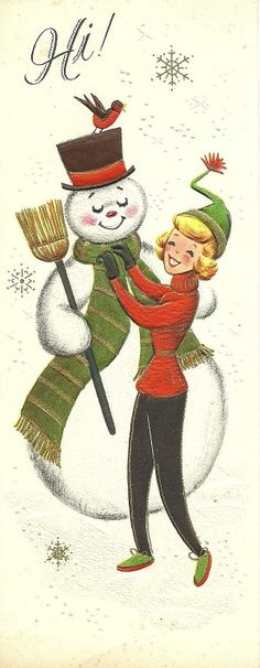 Snowman and his 50's girl.