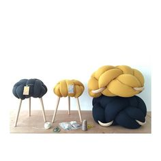knot cushions and stools by knot studio