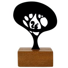 Eleonora Hoshino - laser cut steel sculptures - trees