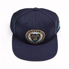 e479416a70c Adidas MLS Philadelphia Union Big Logo Flat Brim Snapback Hat (Navy)
