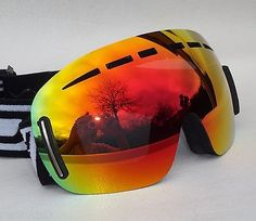 reflective snowboard goggles  Bearz atlas #frameless snow snowboard ski top goggles mirror #anti ...