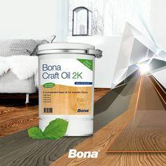 Rendimiento, versatilidad y diseño esto es lo que se consigue con el nuevo Bona CraftOil 2 K - Consiga un look encantador y la sensación de un piso aceitado con la posibilidad de aportar una alta protección con la aplicación de un barniz.