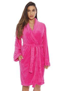 181efe68c5 Kimono Robe Velour Chevron Texture Bath Robes for Women - Fuchsia -  CY12HJEXNXR