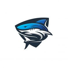 Shark logo template modern sport | Premium Vector #Freepik #vector #logo #food #label #abstract Team Logo Design, Identity Design, Brand Identity, Logo Minimalista, Shark Logo, Soccer Logo, Artist Logo, Fashion Logo Design, Photography Logo Design