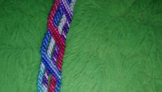 Bracelet bresilien bâtons rose, bleu, violet dégradé