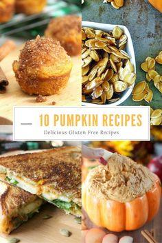 Pumpkin Recipe Round Up, Ten Delicious and Gluten Free recipes