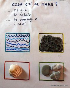 Maestra Caterina: Laboratorio linguistico: Il quaderno del mare Learning Italian, New Years Eve Party, Summer Activities, Teaching, Education, Caterina, School, Madagascar, Sally
