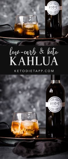 Homemade Low-Carb Kahlua This homemade Kahlua tastes just like the real deal. A delicious Mexican liqueur made low-carb! Homemade Kahlua, Homemade Liquor, Kahlua Drinks, Alcoholic Drinks, Drinks Alcohol, Alcohol Recipes, Beverages, Mojito, Low Carb Keto