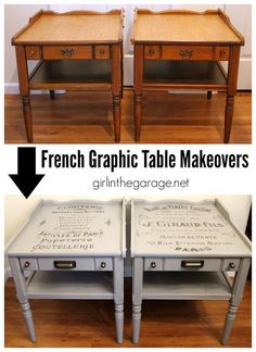 Best DIY Projects: DIY French Graphic Table Makeovers