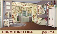 PQSims4: Bedroom Lisa • Sims 4 Downloads