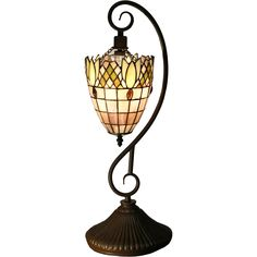 The intricate design and demure color of the Arizona Tiffany-style table lamp will beautify and improve your home. This 22-inch high table lamp will definitely look perfect anywhere in your home.