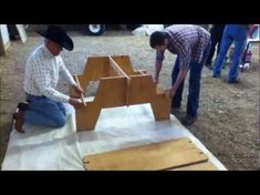 Amazing Portable Picnic Table from single sheet of plywood - YouTube