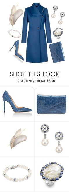 """""""Ship- Naming Ceremony"""" by nmccullough ❤ liked on Polyvore featuring Gianvito Rossi, Bottega Veneta, Juliette Botterill Millinery and Mikimoto"""