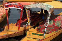 Shikaras in Dal Lake,Srinagar,Kashmir,India by kukkaibkk, via Flickr