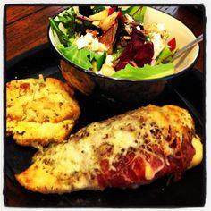 Prosciutto wrapped, mozzarella & prosciutto stuffed chicken breast ...