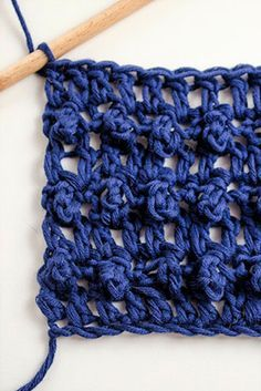 How to make the triple crochet loop stitch