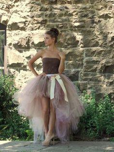 Adult tutu high low tutu skirt wedding bridal tutu prom by TutuHot