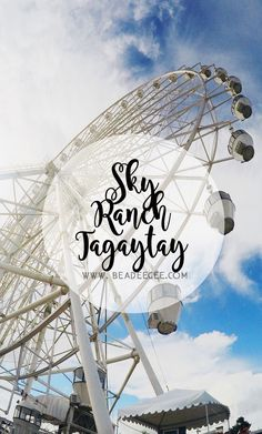 Carnival date in Sky Ranch Tagaytay Tagaytay Philippines, Rizal Park, Fort Santiago, Carnival Date, American Cemetery, Makati City, Philippines Culture, Ocean Park, Tourist Spots