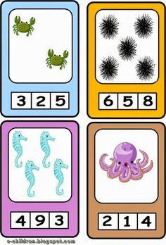 Καρτέλες με καλοκαιρινό περιεχόμενο. Μετράμε και κυκλώνουμε με ανεξίτηλο μαρκαδόρο τη σωστή απάντηση. Προηγουμένως έχουμε πλαστικοποιήσει το υλικό μας. Σβήνουμε με οινόπνευμα. Autism Activities, Educational Activities, Book Activities, Worksheets For Kids, Math Worksheets, Math Boards, Montessori Math, Maila, Math For Kids