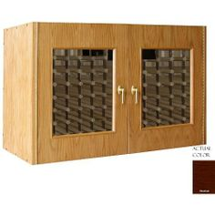 Vinotemp Vino-296g-cn 224 Bottle Wine Cellar Credenza - Glass Doors / Chestnut Cabinet by Vinotemp. $3569.00. Vinotemp VINO-296G-CN 224 Bottle Wine Cellar Credenza - Glass Doors / Chestnut Cabinet. VINO-296G-CN. Wine Cellars. This Wine Cellar boasts two elegant, double paned glass doors with a classic wood trim. The wine mate self contained cooling system ensures proper circulation while your wine is stored safely away. Digital temperature control makes tempera...