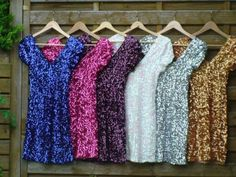 sparkly dresses a must in every color