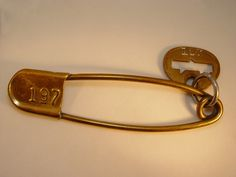 1920 Brass Safety Pin